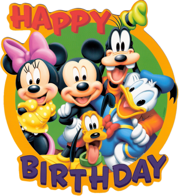Happy Birthday Disney Cartoons