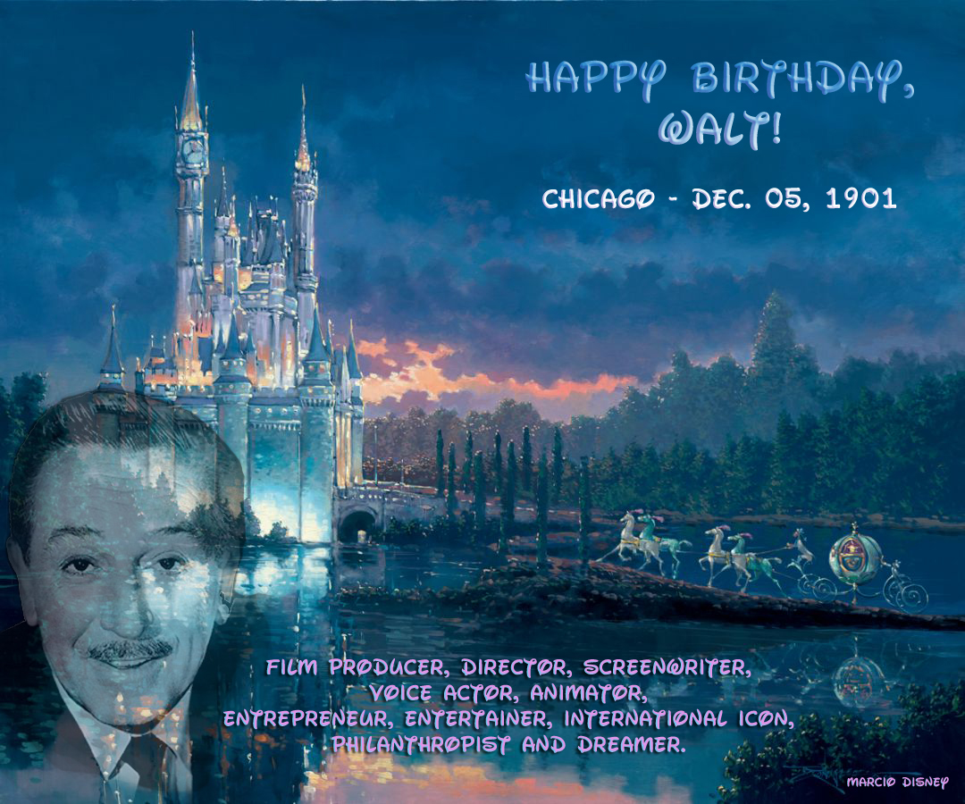 Happy Birthday Walt Disney Brush Happenings